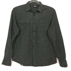 Van Off the Wall Gray Button Down Shirt